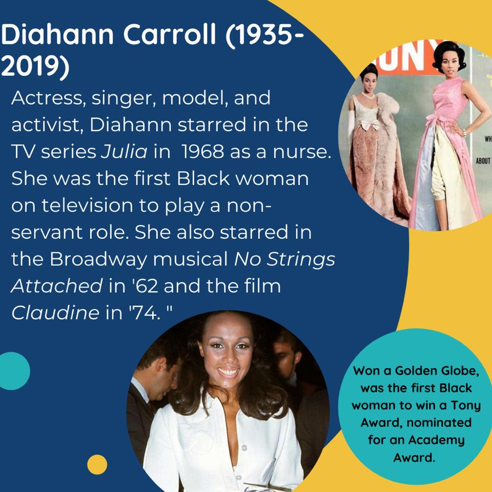 Black Female Artists Diahann Carroll