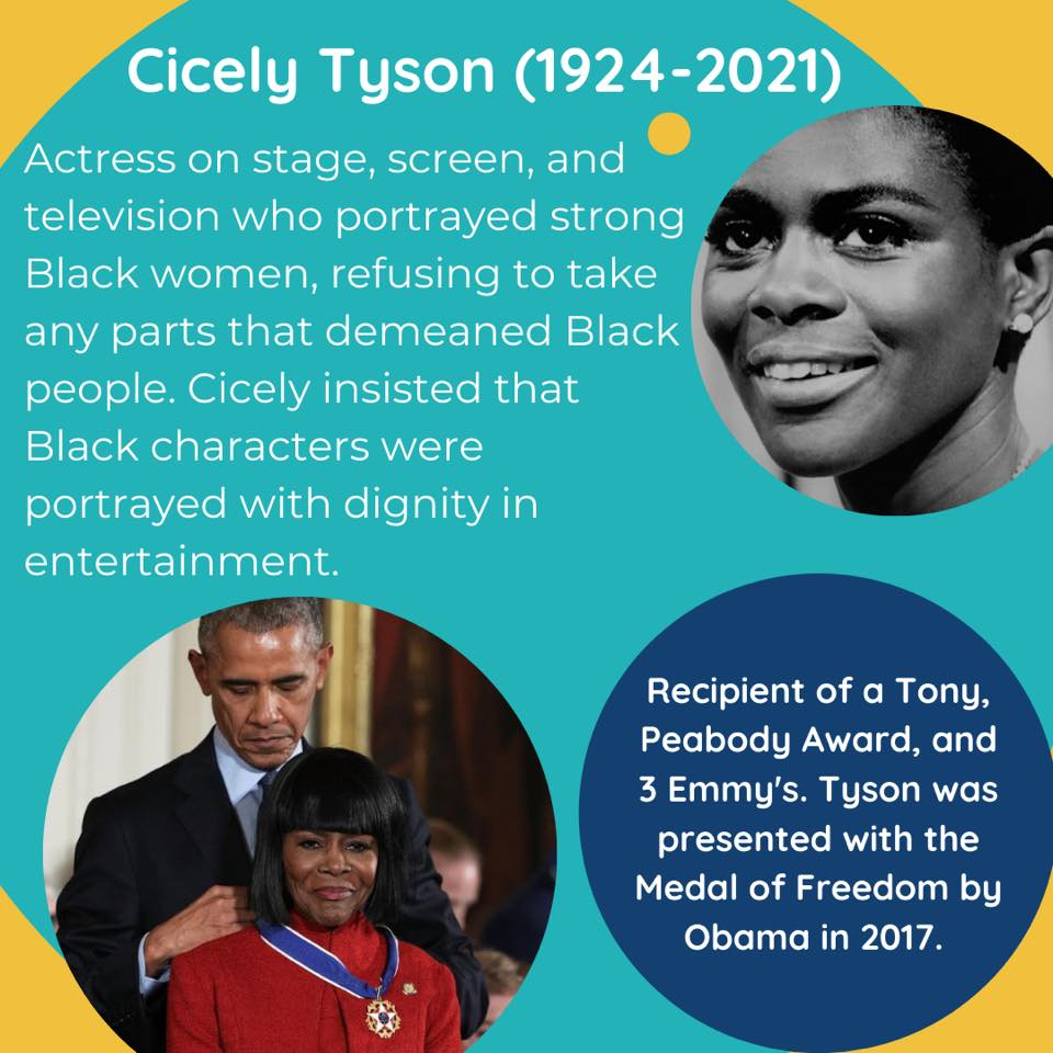 Black Female Artists Cicely Tyson