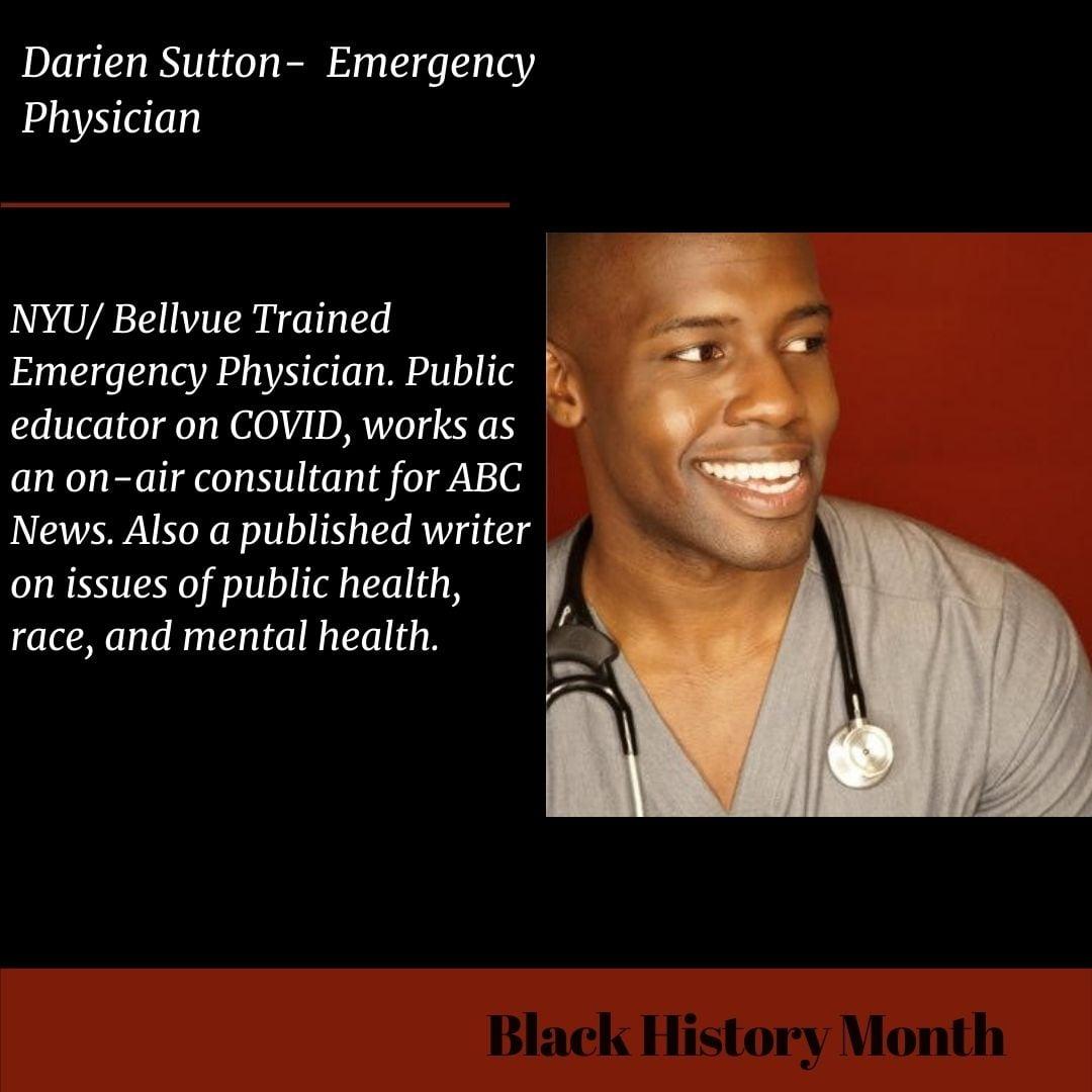 Black Medicine and Science Trailblazers Darien Sutton