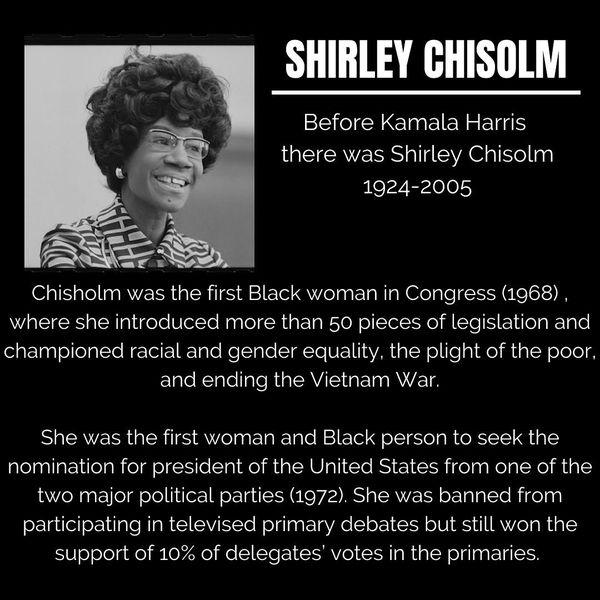 Black Trailblazers - Activists - Chisolm