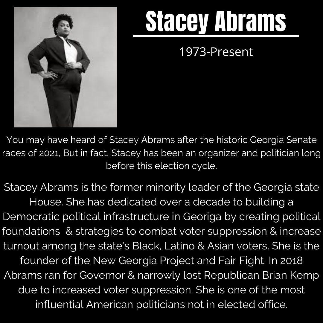 Black Trailblazers - Activists - Abrams