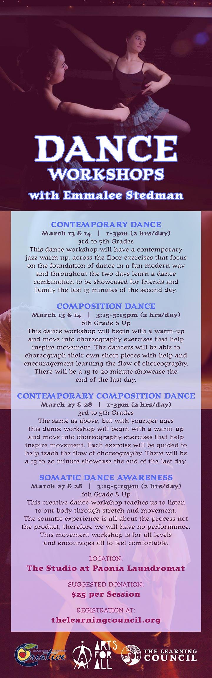 Dance Workshops poster