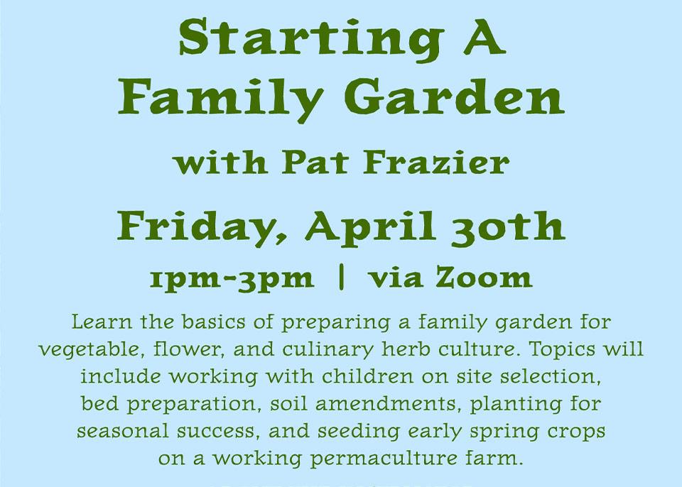 Starting a Family Garden