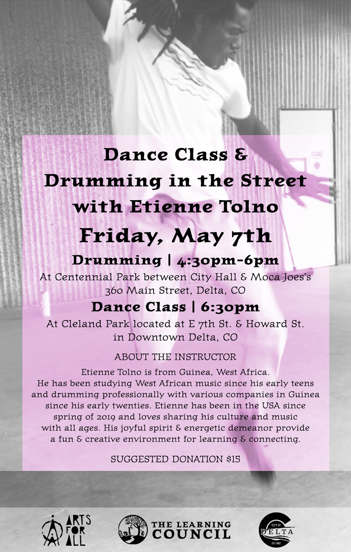Dance Class and Drumming poster