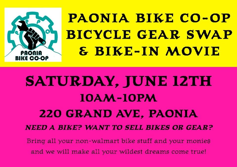 Bicycle Gear Swap and Bike-In Movie