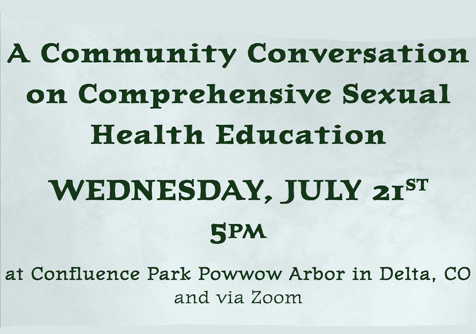 Community Conversation on Comprehensive Sexual Health Education