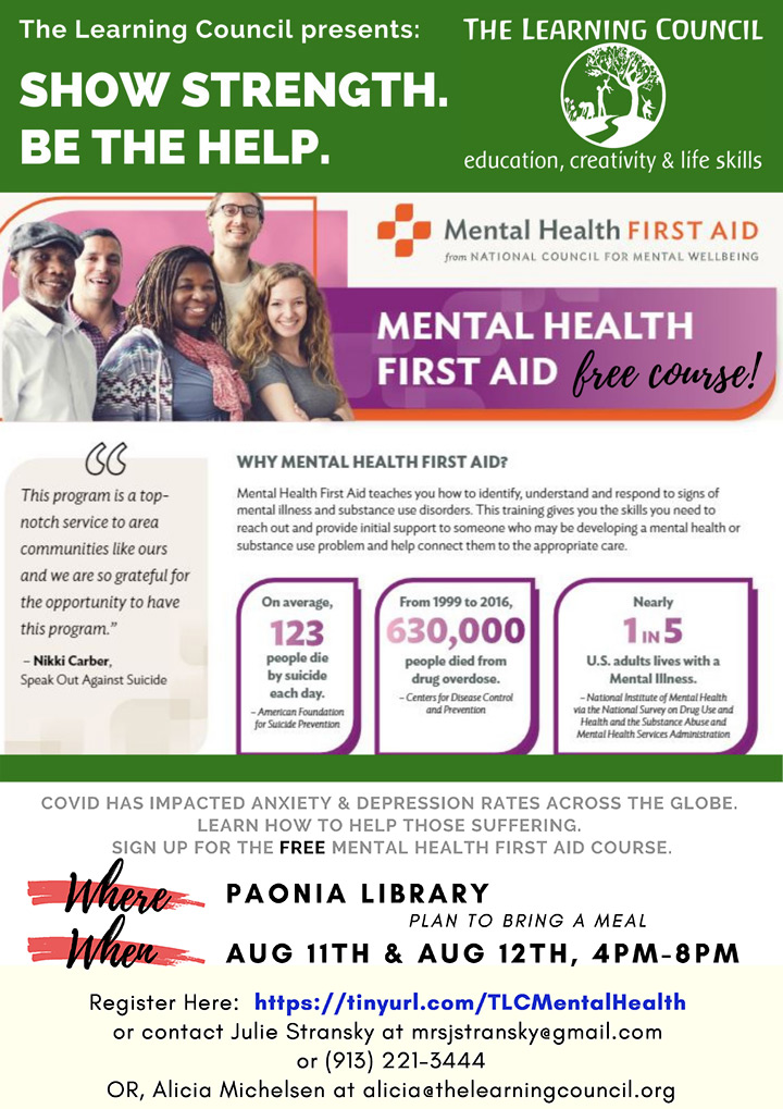 Mental Health First Aid poster