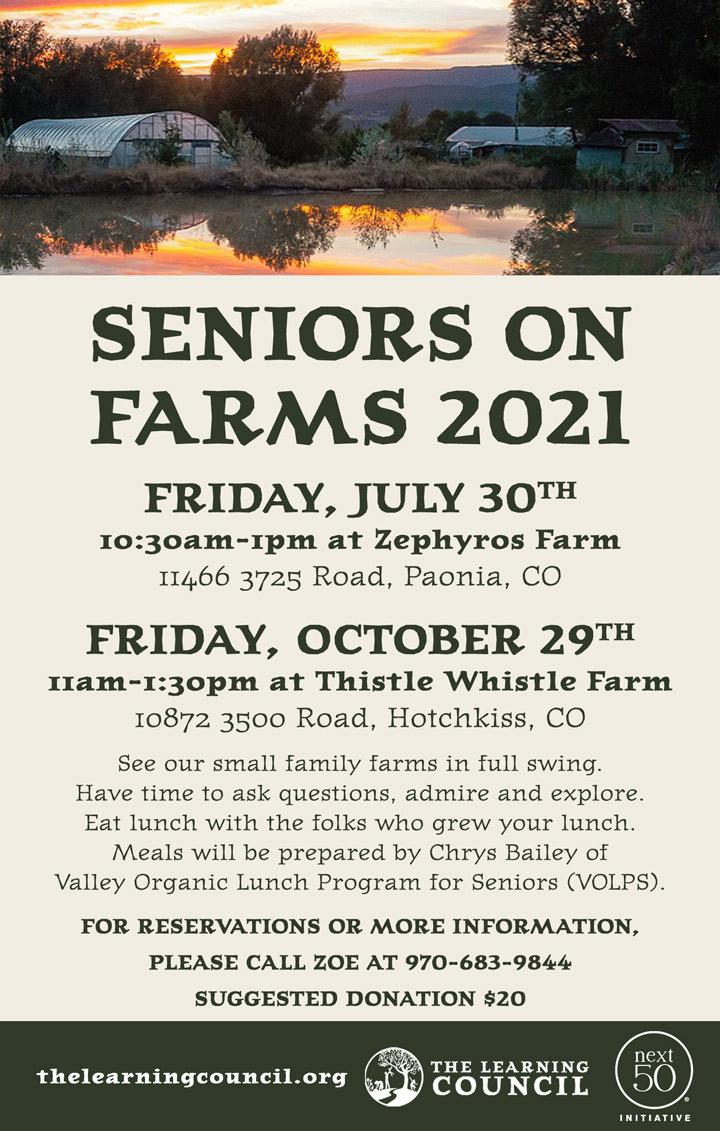 Seniors On Farms poster