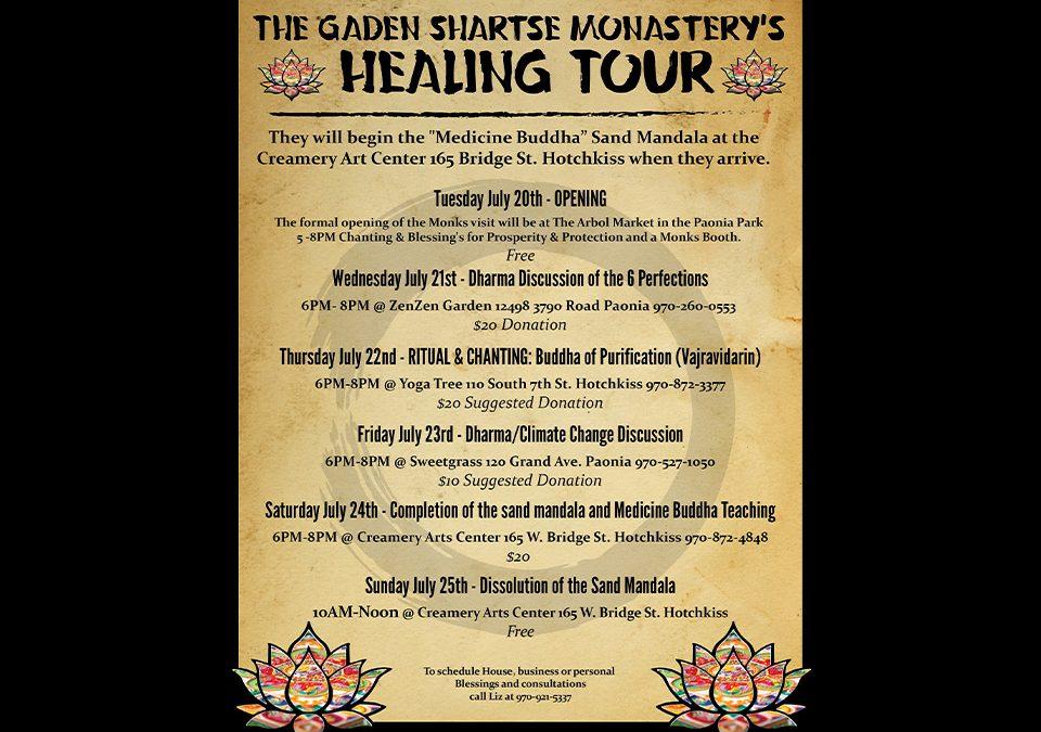 Gaden Shartse Monastery's Healing Tour