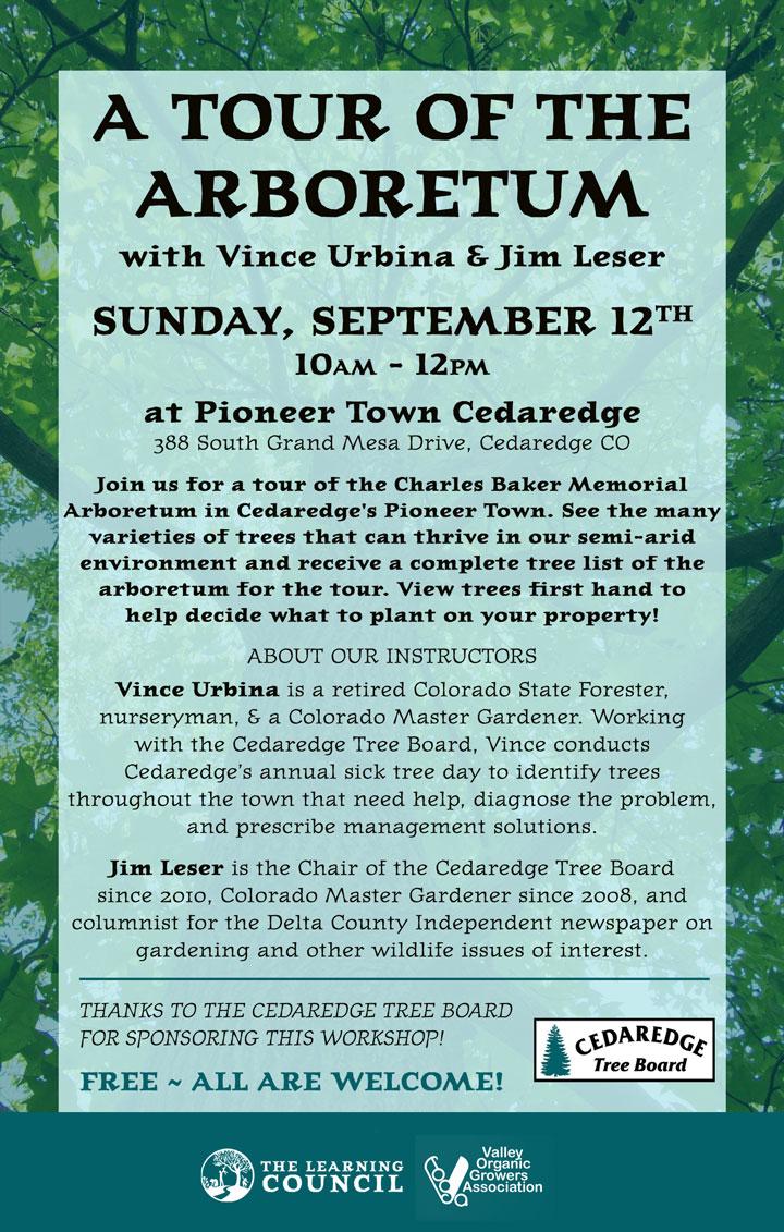 Arboretum Tour poster