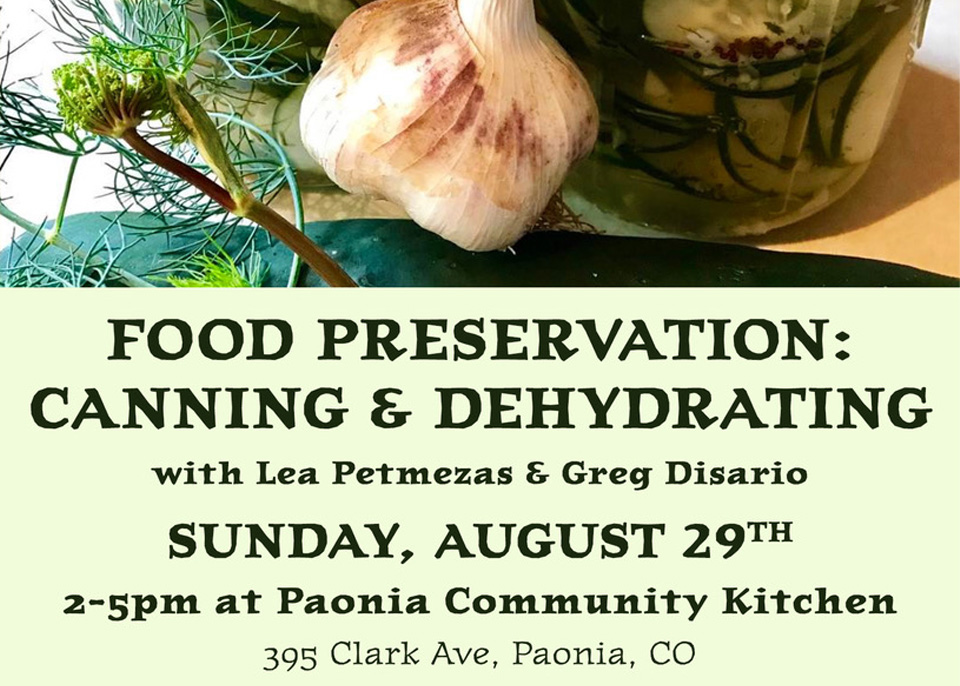Food Preservation: Canning and Dehydrating