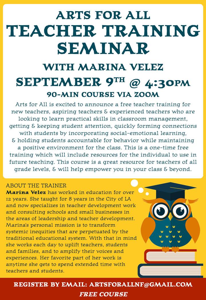 Teacher Training poster