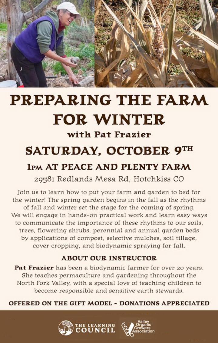 Preparing the Farm for Winter poster